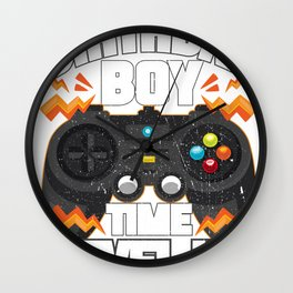 Birthday Boy Time To Level Up Video Gamer Gift Wall Clock