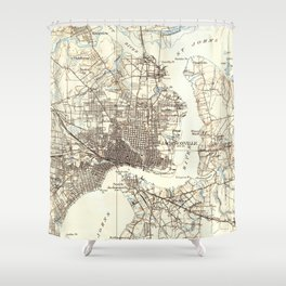 Vintage Map of Jacksonville Florida (1918) Shower Curtain