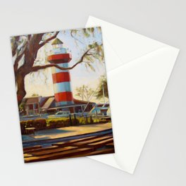Harbour Town Lighthouse and Stage, Hilton Head Island Stationery Cards