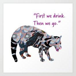 Kasturi Civet Cat Art Print