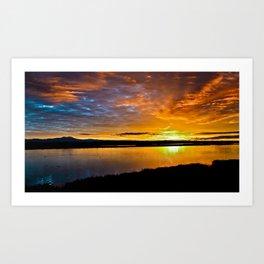 Bolsa Chica Wetlands Sunrise    1/10/16 Art Print