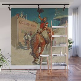 """N C Wyeth Western Painting """"The Rodeo"""" Wall Mural"""