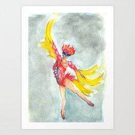 the dance of the firebird Art Print