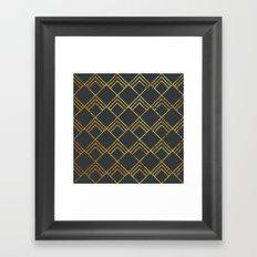 Diamond Art Deco; - Black & Gold  Framed Art Print