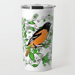 Oriole Song Bird Travel Mug