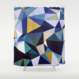 Abstract Geometric Triangle Pattern Shower Curtain