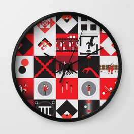 Candy Cane Kids Wall Clock