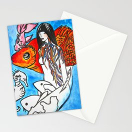 The Sea King's Daughter #society6 #decor #buyart Stationery Cards