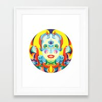 i woke up like this Framed Art Prints featuring I Woke up like This by Anai Greog