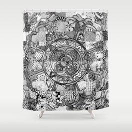 Tibetan Crest Shower Curtain