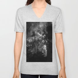 Smokers and train Unisex V-Neck