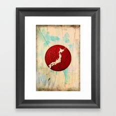 To Japan Framed Art Print