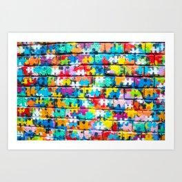 Rainbow Puzzle Art Print