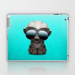 Cute Baby Honey Badger Wearing Sunglasses Laptop & iPad Skin