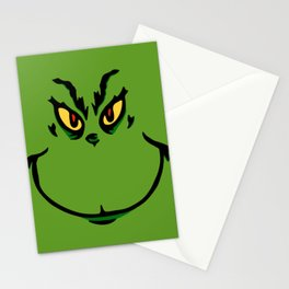 Grinch Smile - Green Cheeky Smirk Stationery Cards