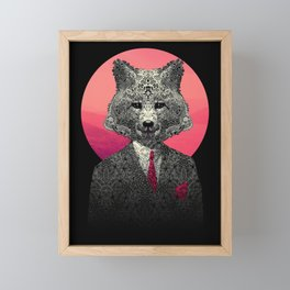 VIF - Very Important Fox Framed Mini Art Print