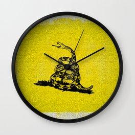 Gadsden Distressed Halftone Denim Flag Wall Clock