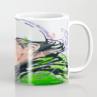 phil jones Mugs featuring Phil (Golf Legend) by CjosephART
