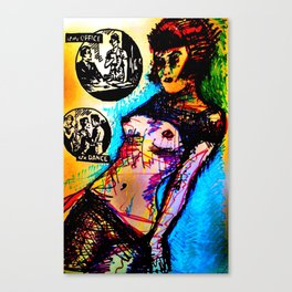 Romance: at the Office/at a Dance Canvas Print