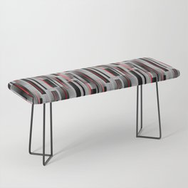 Off the Grid - Abstract - Gray, Black, Red Bench