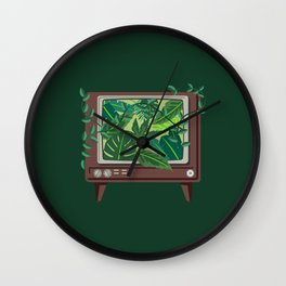 TV Nature Wall Clock