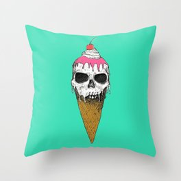 I Scream, You Scream, We all Scream Throw Pillow