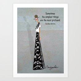 SWEET DEMOIZELLE Art Print