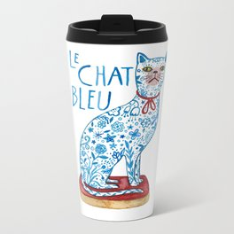 Le Chat Bleu Metal Travel Mug