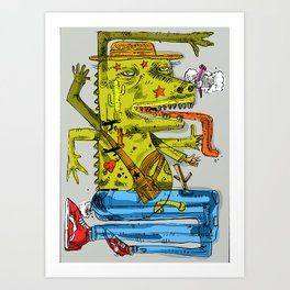 Dinowadays Art Print