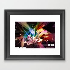 COLORFUL NONSENSE INSPIRED BY OLD RAVE FLYERS Framed Art Print