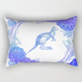 Beautiful Australian Floral print with Kangaroo Rectangular Pillow