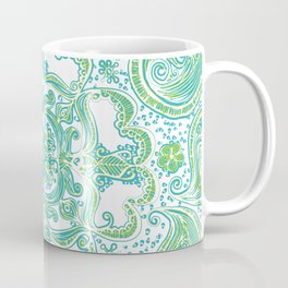 Paisley Mandala - Blue & Green Coffee Mug