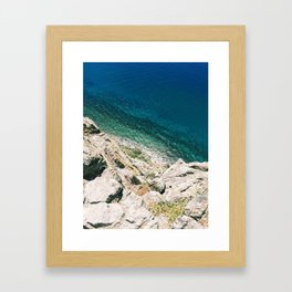 Looking Down on Lake Tahoe from Cave Rock Framed Art Print