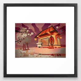 Imaginery Asian landscape Framed Art Print