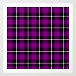Patriarch purple (#808000) color themed SCOTTISH TARTAN Checkered Fabric Pattern texture background Art Print