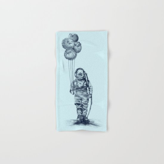 Balloon Fish - monochrome option Hand & Bath Towel