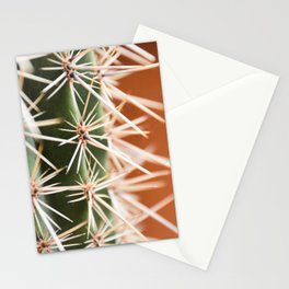 Cactus pattern in Marrakech- Green, terra cotta mediterranean - Travel Photography Stationery Cards