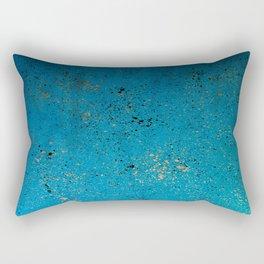 Tiffany Blue, Black & Gold Spatter Rectangular Pillow