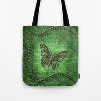 decorative Tote Bags featuring Decorative butterfly by nicky2342