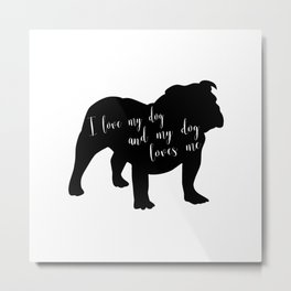 Bulldog Love Metal Print