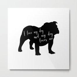 Bulldog Love Metal Print