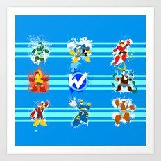 Robot Masters of Mega Man 2 Art Print
