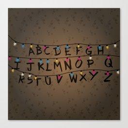 Christmas bulbs alphabet Canvas Print
