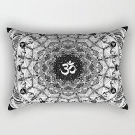 BLACK AND WHITE OM MANDALA Rectangular Pillow