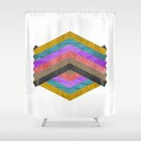 hexagon Shower Curtains featuring Hexagon by Kaamil Ajmeri