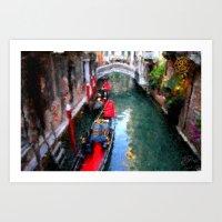 Venitian Canal Art Print