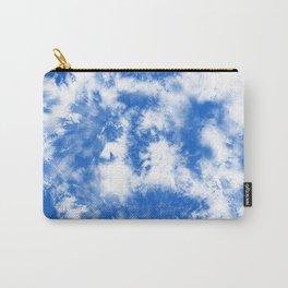 Blue Tie Dye & Batik Carry-All Pouch