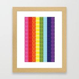 TorsoPattern Gay Pride Flag (Original 8-Color) Framed Art Print