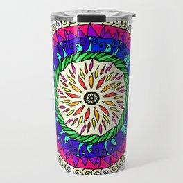 Mandala Color Travel Mug