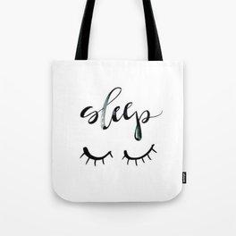 Sleep Closed Eyes Tote Bag